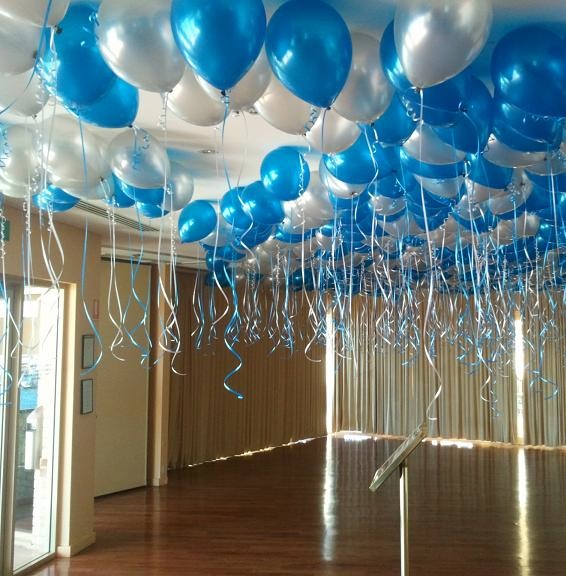 50 x ceiling free floating balloons float time 12 hours for Balloon decoration for ceiling